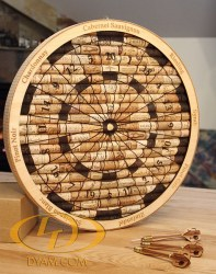 Decorative Wine Cork Dartboard with Note Darts